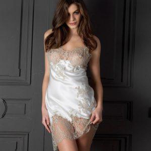 nuisette en soie lingerie de luxe marque marjolaine acheter en ligne