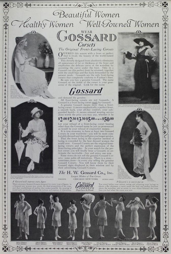 Publicité Gossard des années 20