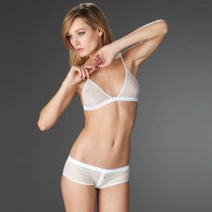 triangle sans armature blanc lingerie tendance printemps
