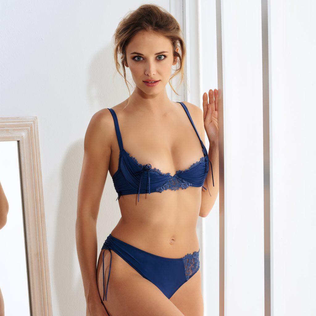 collection charme lingerie bleu nuit marque millesia acheter en ligne