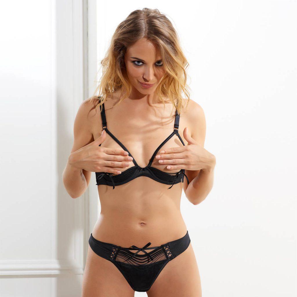 soutien gorge ouvert lingerie sexy marque millesia