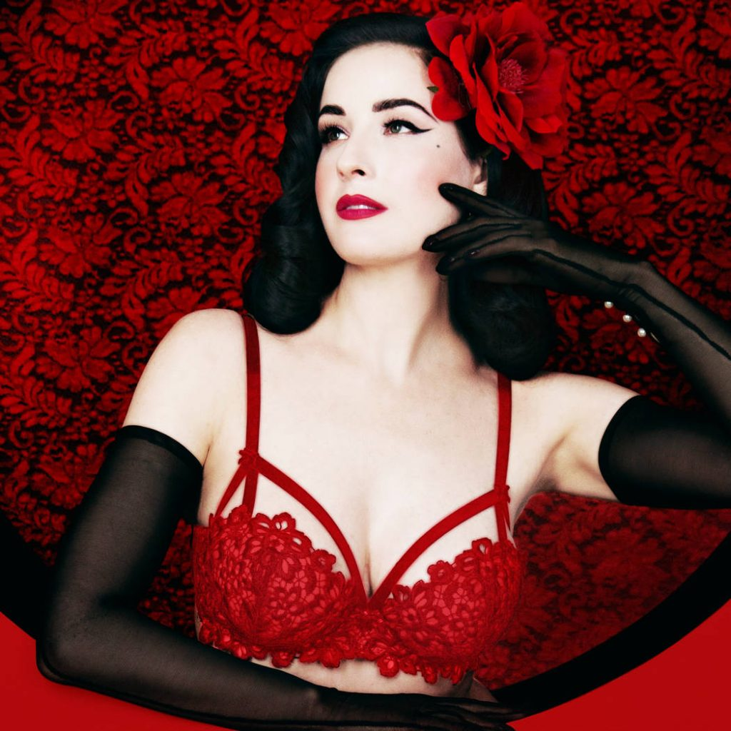 soutien gorge balconnet coques rouge strapping dita von teese